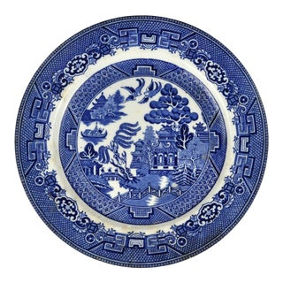 1925 Allertons Blue Willow Dinner Plate For Sale