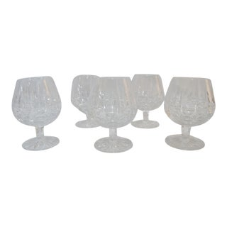 Waterford Crystal Glass Liquor Brandy Snifters in Kylemore Pattern - Set of 6 For Sale
