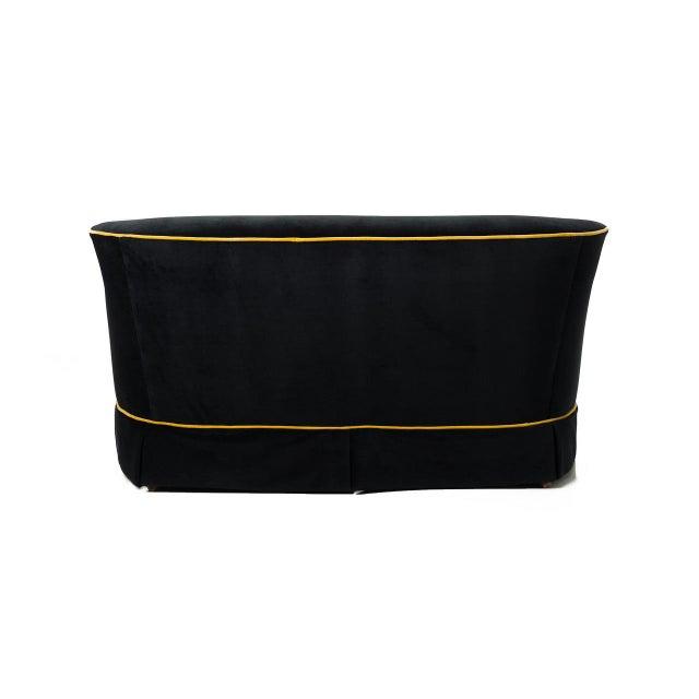 Black & Gold Velvet Sofa - Image 8 of 8
