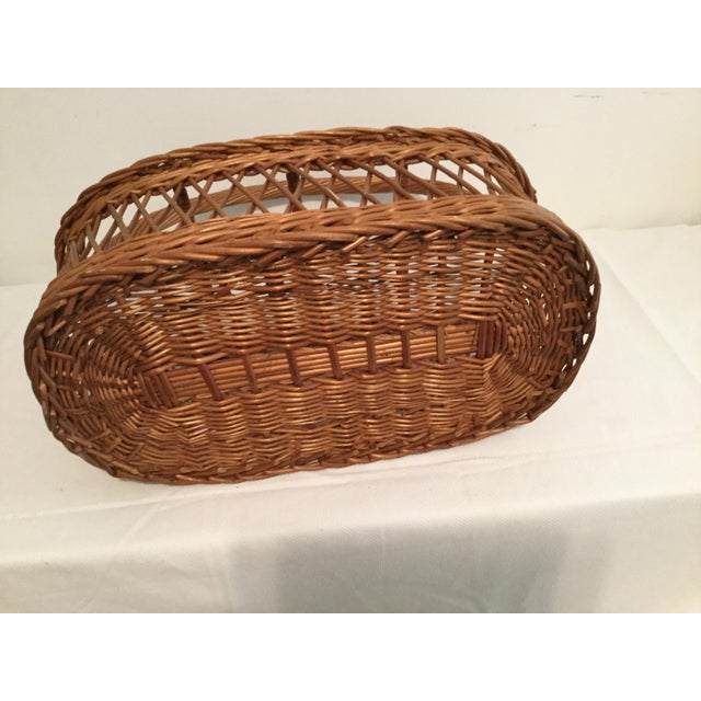 1980s Vintage Rustic Storage Basket For Sale - Image 5 of 6