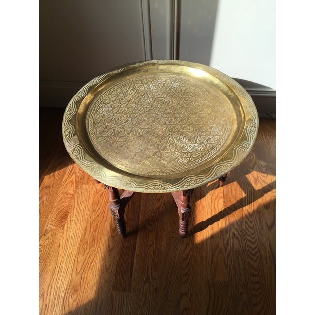 Vintage Moroccan Style Tea Table - Image 5 of 5