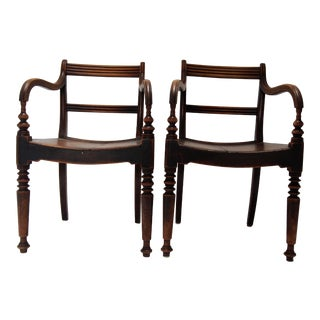 English Regency Country Armchairs - A Pair