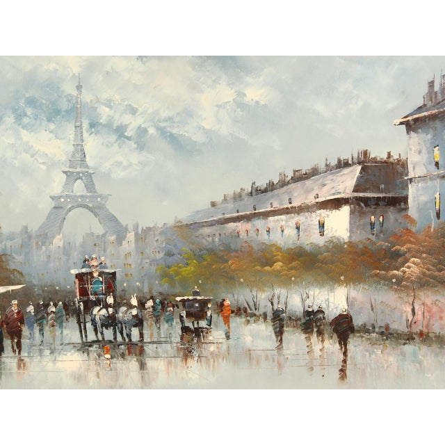 Early 21st Century Paris City Street Original Oil Painting For Sale - Image 5 of 8