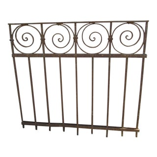 Antique Victorian Iron Gate Window Garden Fence Architectural Salvage Door #09 For Sale