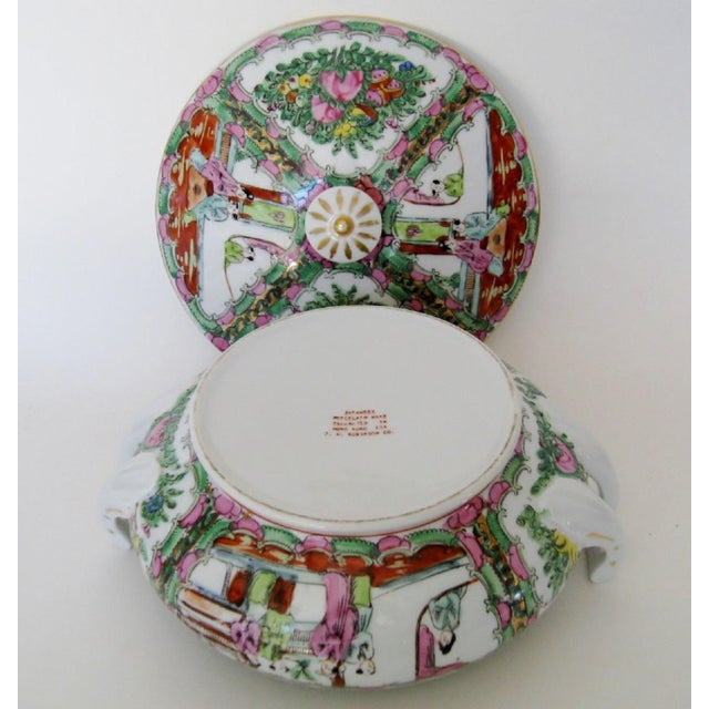 Vintage Rose Medallion Tureen For Sale In Los Angeles - Image 6 of 7