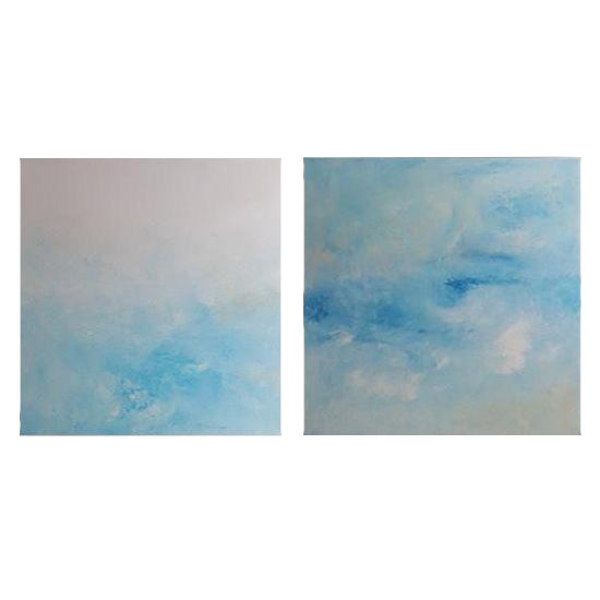 """""""Breeze"""" Original Abstract Diptych - A Pair - Image 1 of 3"""