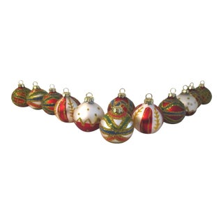 1970s Christmas Ball Placecard Holders - Set of 12 For Sale