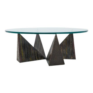 Paul Evans, Welded Steel Coffee Table, USA, 1970s For Sale