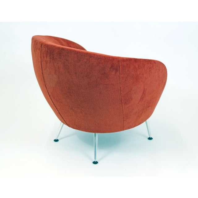 Brazilian Modern Mannes Curved Back Red Club Chair - Image 6 of 11