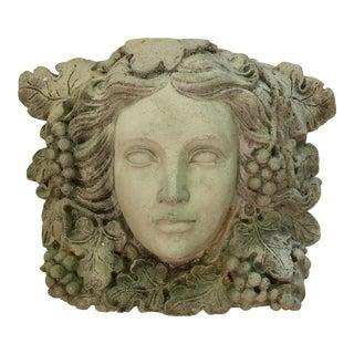 Antique Goddess of Wine Stone Plaque