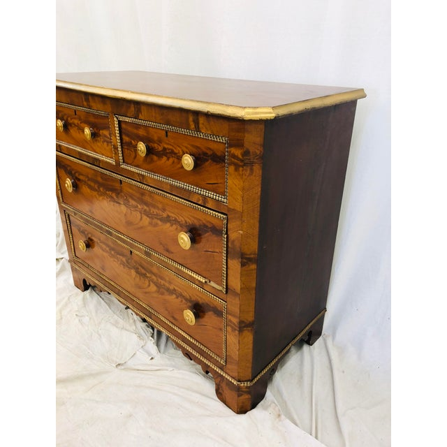 1900s Antique Victorian Burl Chest For Sale - Image 5 of 7