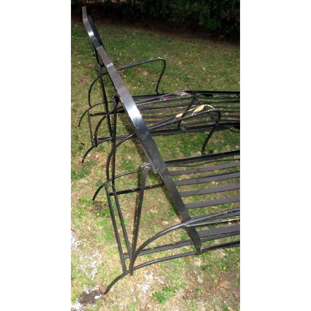 Metal 1960s Mid-Century Modern Iron Woodard Outdoor Chaise Lounges - a Pair For Sale - Image 7 of 9