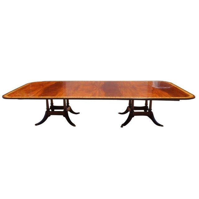 A stunning Sheraton birdcage Dining/ Conference room table. Handmade from Mahogany with an exquisite grain and finish. A...