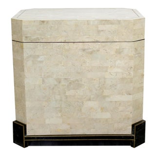 Contemporary Modern Robert Marcius Casa Bique Tessellated Fossil Stone Chest 80s For Sale