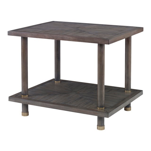 Century Furniture Biscayne Side Table, Mink Grey Finish For Sale