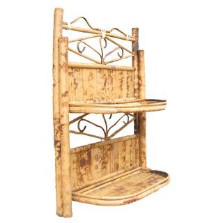 Bamboo / Rattan Folding Wall Shelves For Sale