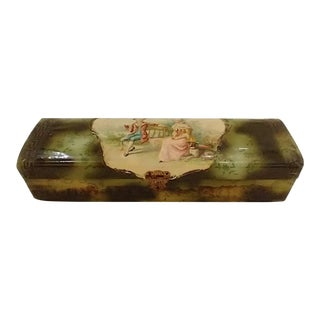 Antique Victorian Celluloid Glove Box For Sale