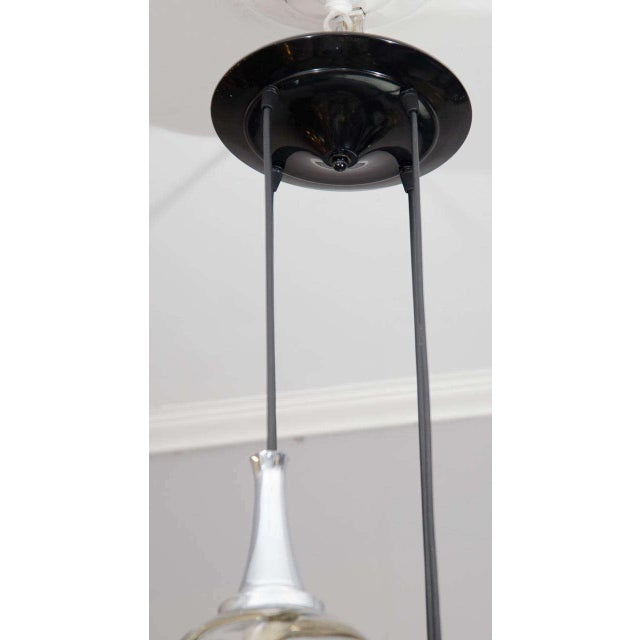 Traditional 1960s German Globe Glass Fixture For Sale - Image 3 of 6