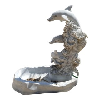 Modern Marble Dolphin Fountain For Sale