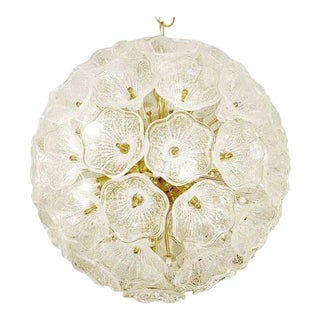 Sputnik Chandelier with Murano Glass Flowers, 1960s For Sale