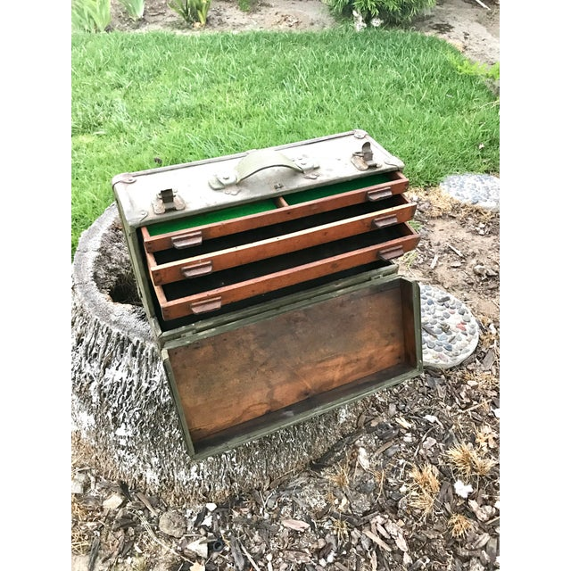 Antique Wooden Tool Box - Image 2 of 4