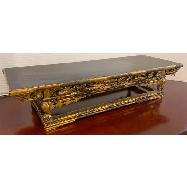 Exquisite Meiji Period Gilt Lacquered and Brass Mounted Stand For Sale - Image 4 of 12