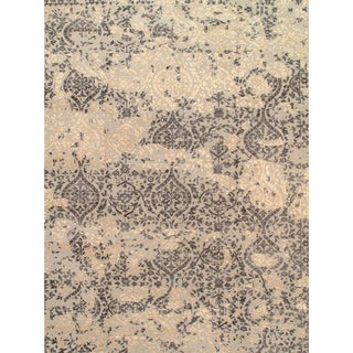 """Indian Agra Silk & Wool Rug - 10′1″ × 14′5"""" For Sale"""
