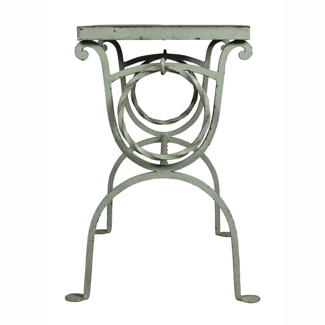Metal Arts & Crafts Wrought Iron and Tile Top Side Table For Sale - Image 7 of 9