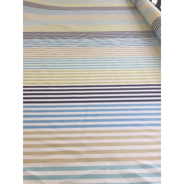 Zoffany Striped Fabric Remnant For Sale - Image 4 of 6