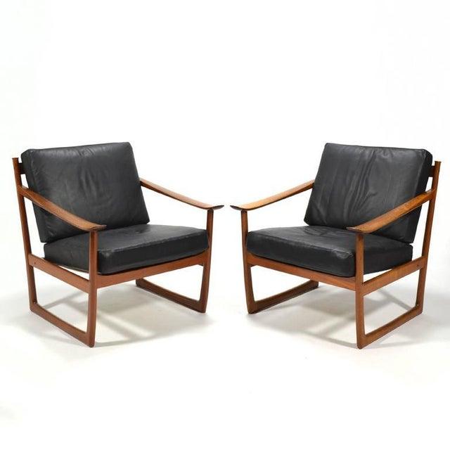 Peter Hvidt & Orla Mølgaard Nielsen Lounge Chairs by France & Son - Image 3 of 10