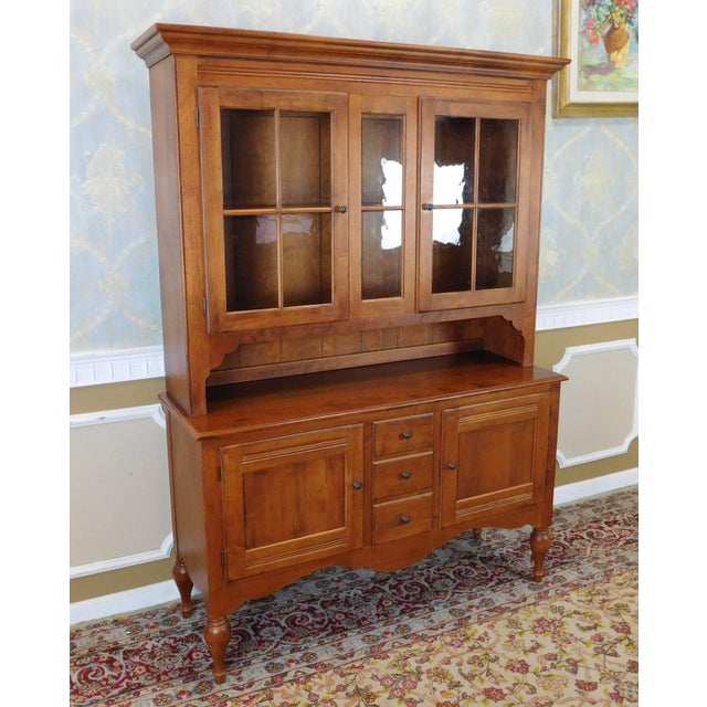 Ethan Allen Country Crossings China Cabinet For Sale - Image 11 of 11