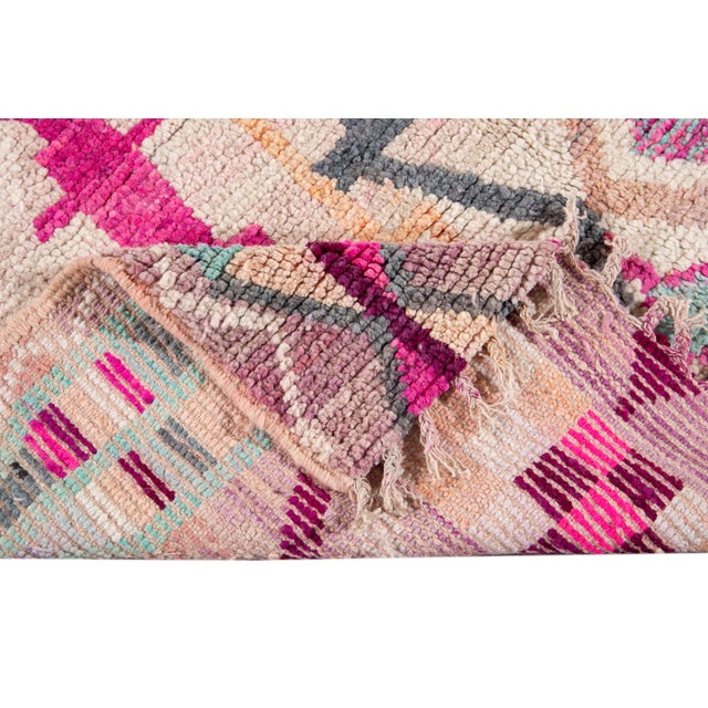 Tribal Vintage Azilal Moroccan Wool Rug For Sale - Image 3 of 12