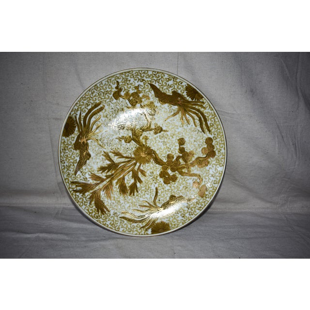 Imari Hand Painted Gold Large Plate For Sale In New Orleans - Image 6 of 6