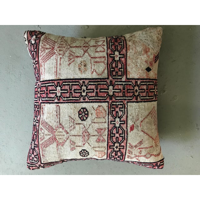 Vintage Turkish Kilim Pillow For Sale - Image 4 of 4