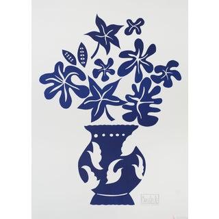 """Marco Del Re """"Vase IV Bleu"""" 2008 Lithograph For Sale"""