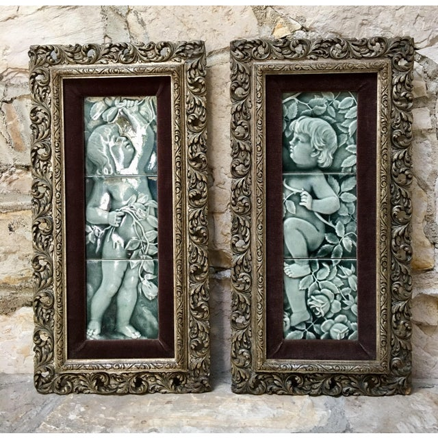Late 19th Century Framed Tile Set by Isaac Broome - a Pair For Sale - Image 12 of 12