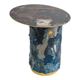 Concrete and Steel Occasional Table, Usa, 2019 For Sale