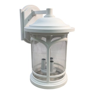 Quoizel Seedy Glass Outdoor Wall Sconce For Sale