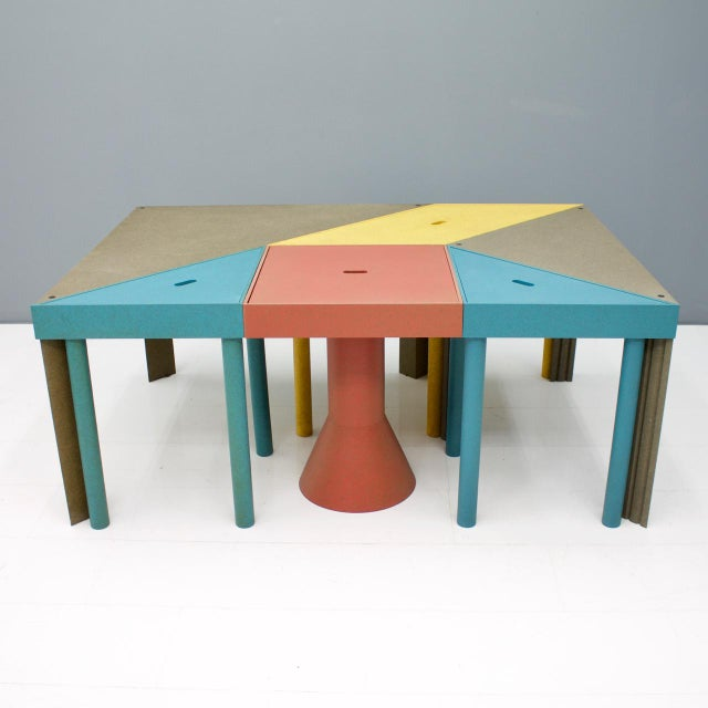 Set of Six Tangram Tables by Massimo Morozzi for Cassina, 1983 For Sale - Image 11 of 11