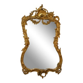 Antique French Gold Mirror circa 1870-1880 For Sale