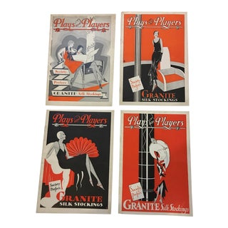 1930's Plays & Players Philadelphia Art Deco Playbills - Set of 4 For Sale
