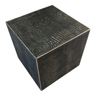 Contemporary Theodore Alexander Cube Side Table For Sale