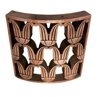 Art Deco Copper Railing [Curved Section] For Sale