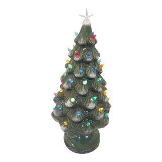 Mid-Century Ceramic Light Up Christmas Tree For Sale