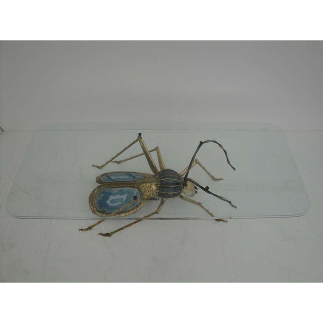 1970s Henri Fernandez Beetle Sculpture or Coffee Table for Atelier Duval-Brasseur For Sale - Image 5 of 10