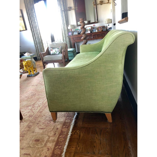 1980s 1980s Vintage Tufted Sleigh Back Sofa For Sale - Image 5 of 8