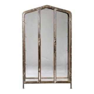 1920s Art Deco Two Door Nickel/Iron Vitrine For Sale