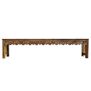Long Hall Carved Console Table For Sale