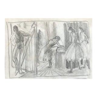 Impressionist Ballet Dancers 1950s For Sale