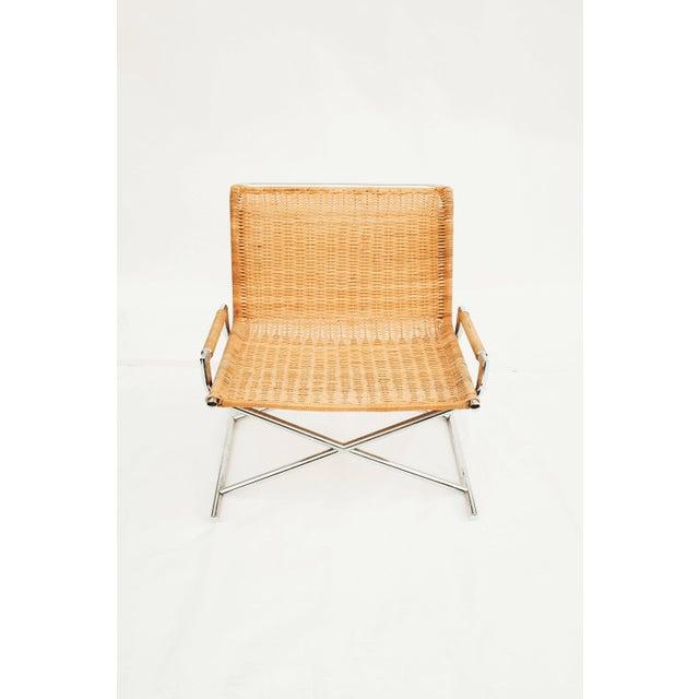 Wicker Ward Bennett Wicker Sled Lounge Chair for Brickel Associates For Sale - Image 7 of 10